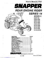 Snapper 280914BE Manuals