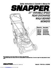 Snapper 7800195 Manuals