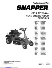 Snapper 7800104 Manuals