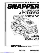 Snapper LT120G30AB Manuals