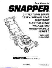 Snapper ELP21500VE Manuals