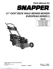 Snapper ELP21703BV (80662) Manuals