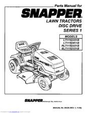 Snapper ELT115D331B Manuals