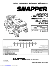 Snapper ELT125G33DB Manuals