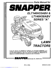 Snapper LT140H38ABV Manuals
