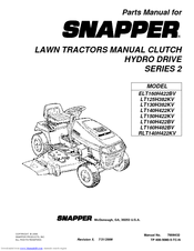 Snapper LT160H422BV Manuals
