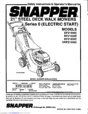 Snapper RP21550E Manuals