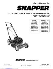 Snapper MRP216517B Manuals