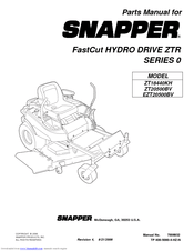 Snapper Fast Cut ZT20500BV Manuals