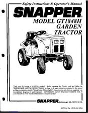 Snapper GT1848H Manuals