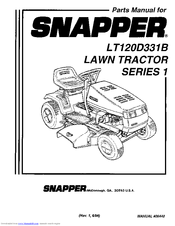 Snapper LT120D331B Manuals