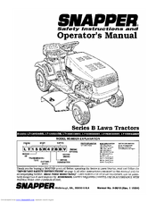 Snapper LT140H33BBV Manuals