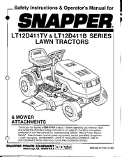 Snapper LT12D411TV Series Manuals