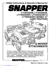 Snapper LT125G38AB Manuals