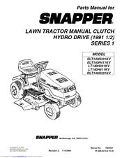 Snapper LT140H411KV Series Manuals