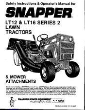 Snapper LT16 Series 2 Manuals