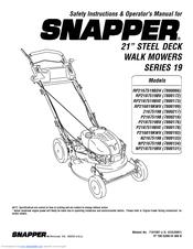 Snapper RP2167519BDV Manuals