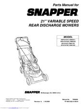Snapper SPV21675E Manuals
