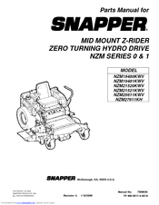 Snapper NZM25611KWV Manuals