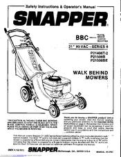 Snapper P21506B Manuals