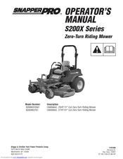 Snapper Pro 5900692 Manuals