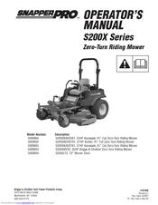 Snapper S200X/72 Manuals