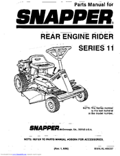 Snapper Series 11 Manuals