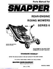 Snapper Series 6 Manuals