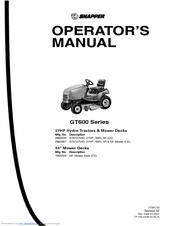 Snapper SGT27540D Manuals