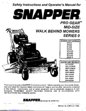Snapper SPA480 Manuals