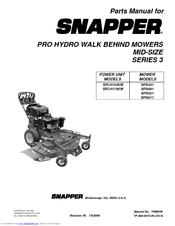 Snapper SPA521SPA611 Manuals
