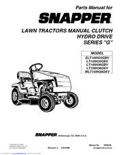 Snapper LT145H38GBV Manuals