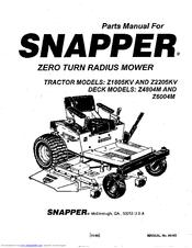 Snapper Z2205KV Manuals