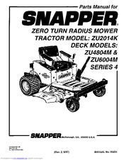 Snapper ZU2014K Manuals