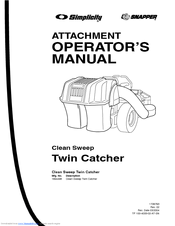 Simplicity Clean Sweep Twin Catcher Manuals