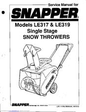 Snapper LE317 Manuals