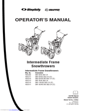 Snapper SNP I924E B&S 24 (CE) Manuals
