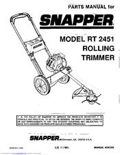 Snapper RT 2451 Manuals