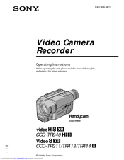 Sony Handycam CCD-TR940 Manuals