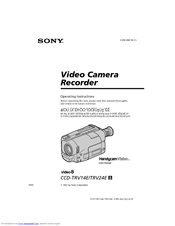 Sony Handycam Vision CCD-TRV24E Manuals