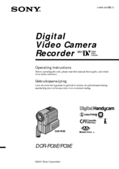 Sony Handycam DCR-PC9E Manuals