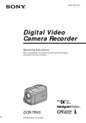 Sony Handycam Vision DCR-TRV5 Manuals