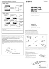 Sony XR-C6100 Manuals