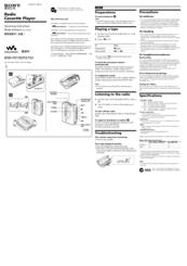 Sony Walkman WM-FX195 Manuals