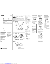 Sony CD Walkman D-193 Manuals