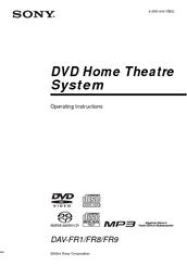 Sony DAV-FR1 Manuals