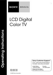 Sony KDL-46VL160 Manuals