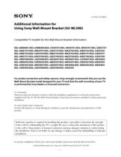 Sony SU-WL500 Instructions (SU-WL500 Wall-Mount Bracket ...