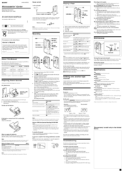 Sony M-530V Manuals