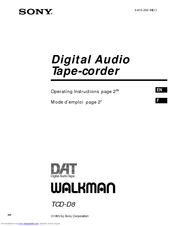 Sony Walkman TCD-D8 Manuals
